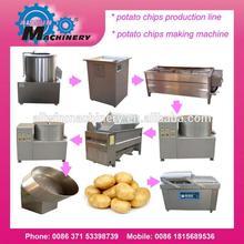 100kgs-800kgs/h Automatic potato cutting machine/french fries/potato chips machine