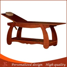 fashionable new arrival promotional wooden body massage table wood warm jade heating massage table