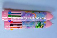 Hanging Rope Ten-color Cartoon Ball Pen Kids' Favorite