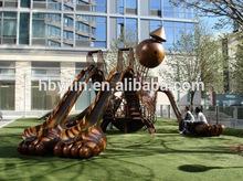 Bronze Children's Slide Sculpture Garden Decoration