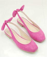 Cute girls slingback closed toe flat sandal hot pink girls summer 2014 sandal little womens nice flat shoes