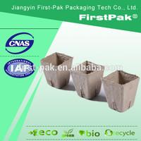 biodegradable 6cm square paper pulp flower pots
