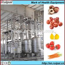 Complete fruit juice beverage production and filling line