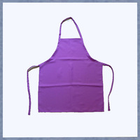 Cheap Blank Kids Apron Cheap Purple Bib Aprons