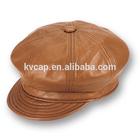 Men Newsboy Cabbie Golf Hunting Fashion Style Peaked Flat Leather Beret Hat