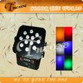 12*17w rgbwa+uv 6in1 led inalámbrico& batería powred tv luz del estudio( th- 260)