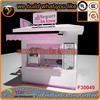Top quality high end frozen yogurt kiosk pink lovely frozen yogurt kiosk design mall juice bar design with LED