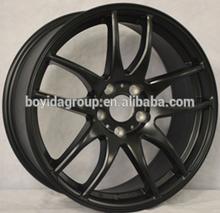 Matt black replica work emotion car aluminum wheel