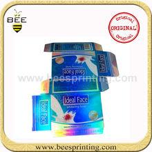 cosmetics whiten cream packaging metallic paper box,face cream packaging box,laser effect paper box