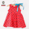 2012 new design fashion baby dress polka dot pattern kids gown dresses