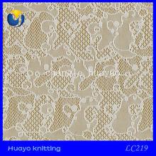 Popular nylon spandex lace fabric for bra underwear