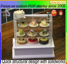Acrylic display manufacturing customized 3 tier acrylic cake shelf stand