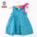 Vestidos da menina do bebê 2014 teste padrão de bolinhas vestidos dama de honra crianças