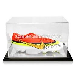 Showing acrylic nike shoe display case with base