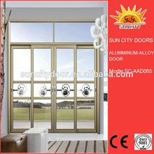 Aluminum alloy balcony double sliding screen doors SC-AAD065