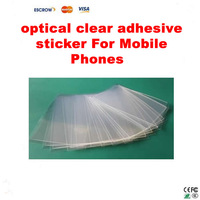 Freeshipping 50pcs/lot 4 inch OCA optical clear adhesive double-side glue tape for iphone 5 lcd touch screen outer glass