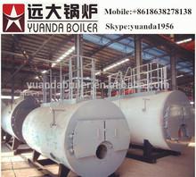 Horizontal boiler oil fired generator