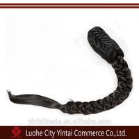 Top Quality X Braid Claw Clip Ponytail/ Virgin Remy Human Hair