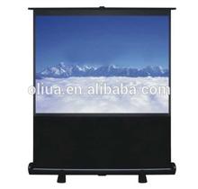 factory quick deliver projector screen portable floor pull up screen