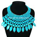 Bleu bijoux en perles, acrylique collier échantillons gratuits