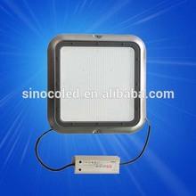 led retrofit 130lm/w meanwell supply 90w high power gas station led canopy light