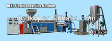 HDPE,PS,PP,ABS flakes plastic extruder and recycling machines