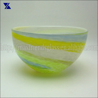 hand made colour swirl fruit glass bowl