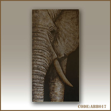 Abstract elephant foil painting