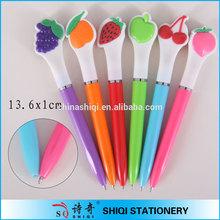 Advertising colorful fruit shape twist ball pen