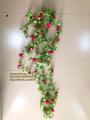 Artificial bougainvillea rama de ratán colgante de pared bonsai hojas de la flor con la