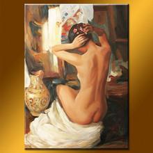 Newest design handmade canvas nude oil art