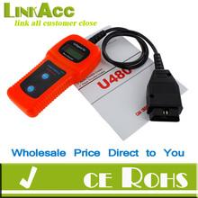 Linkacc-Th80 Car Diagnostic Scanner Tool U480 CAN OBDII OBD2 Memo Engine Fault Code Reader