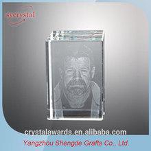 Cube Engraving 3d laser crystal image