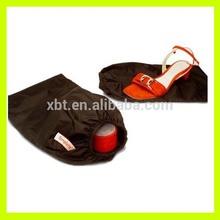 Brown Cotton Drawstring Shoes Bag
