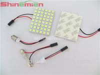 Car Interior 48 SMD 5050 LED Light Lamp Panel T10 Festoon Dome BA9S DC 12V White