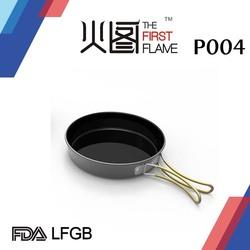 "Hard anodized aluminum 6.75"" Mini Frying pan silicone handle P004"