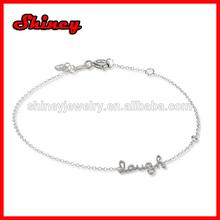 fashional alphabet bracelet,alphabet English love word bracelets,letters bracelets