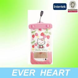 Grils cute Hello Kitty pvc waterproof bag for phone