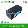 Newest electric car battery 24V65AH