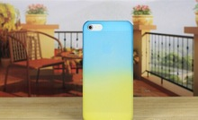 Gradient Snap-On Case For Apple iPhone 5 Shell Cover Blue Green Red Orange