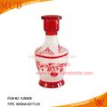 Plus récent vente chaude 2014 shisha de narguilé bouteille en verre, narguilé de shisha bouteille de cire