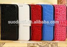Crocodile Skin Leather Wallet Case for Samsung Galaxy S3 Mini i8190