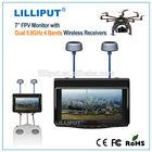 Lilliput 5.8 GHZ wireless reciever Dual antenna 7 inch wireless security camera monitor