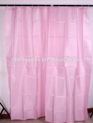 100% Polyester Pink Diamond Spot Jacquard Shower Curtains