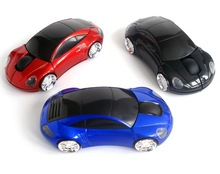 Fashion 2.4G wireless car shape mouse with mini receiver