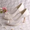 High Heels Bridal Shoes Ivory Wedding Shoes