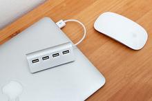 Premium 4-Port USB 2.0 HUB - Stylish Apple Like Design With Mac Pro, IMac, MacBook Air, Pro, Mac Mini, Windows 98 Compatibility