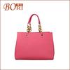2014 bright color print pu tote bag convenience handbag