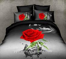 3D Reactive printing 3pcs bedding set dark color