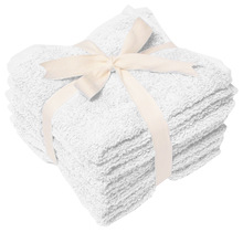 100% Cotton White Heavy Weight Wash Cloth